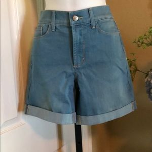 NYDJ cuffed jean shorts. Set of two offered.